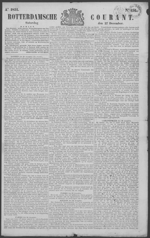 Rotterdamse Courant 1851-12-27