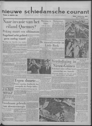 Nieuwe Schiedamsche Courant 1958-08-29