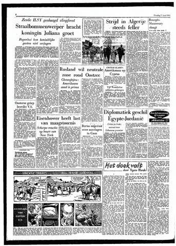Rotterdamsch Parool / De Schiedammer 1957-06-11