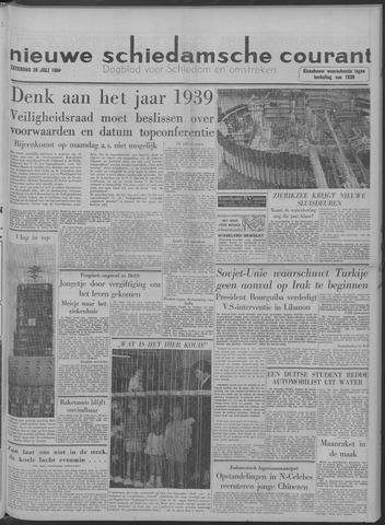 Nieuwe Schiedamsche Courant 1958-07-26