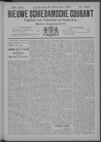 Nieuwe Schiedamsche Courant 1892-12-22