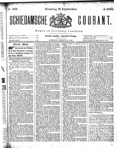 Schiedamsche Courant 1885-09-21