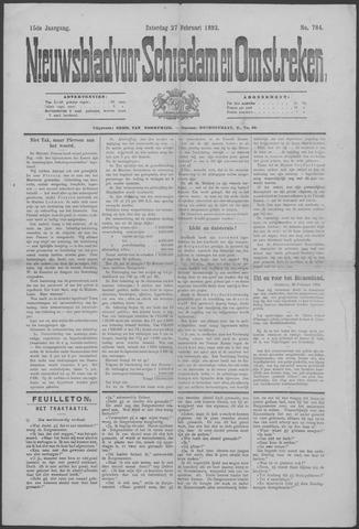 Nieuwsblad voor Schiedam en Omstreken 1892-02-27