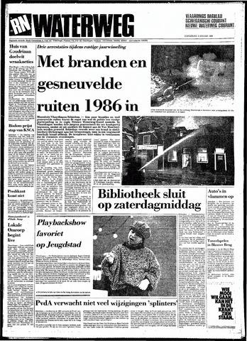 Rotterdamsch Nieuwsblad / Schiedamsche Courant / Rotterdams Dagblad / Waterweg / Algemeen Dagblad 1986