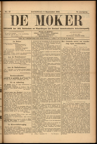 De Moker 1908-09-05