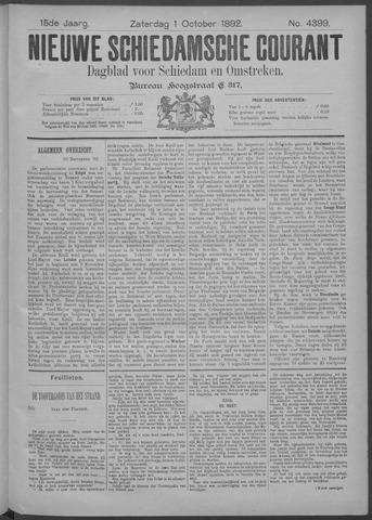 Nieuwe Schiedamsche Courant 1892-10-01