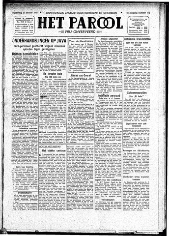 Rotterdamsch Parool / De Schiedammer 1945-10-25