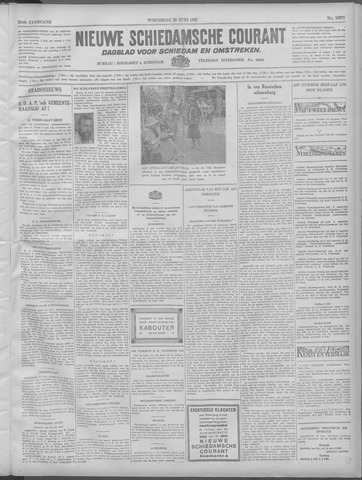 Nieuwe Schiedamsche Courant 1932-06-29