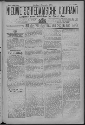 Nieuwe Schiedamsche Courant 1918-11-05