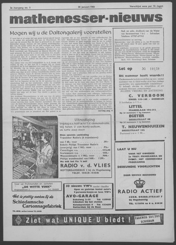 Mathenesser Nieuws 1964-01-30