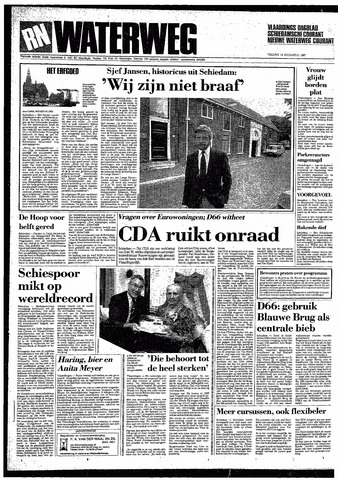 Rotterdamsch Nieuwsblad / Schiedamsche Courant / Rotterdams Dagblad / Waterweg / Algemeen Dagblad 1987-08-14