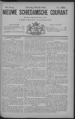 Nieuwe Schiedamsche Courant 1892-07-16
