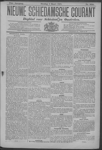 Nieuwe Schiedamsche Courant 1909-03-02