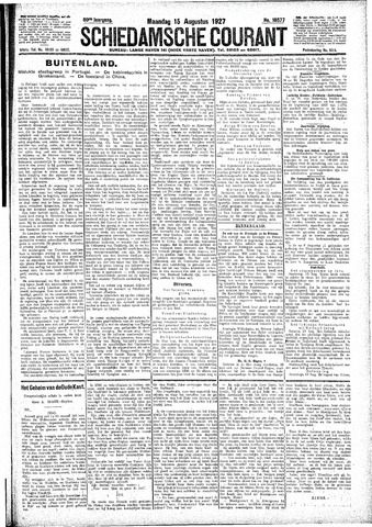 Schiedamsche Courant 1927-08-15