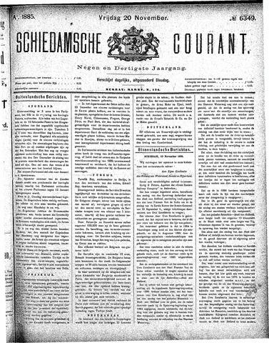 Schiedamsche Courant 1885-11-20
