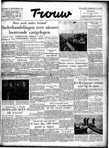 Trouw / De Rotterdammer 1954-09-13
