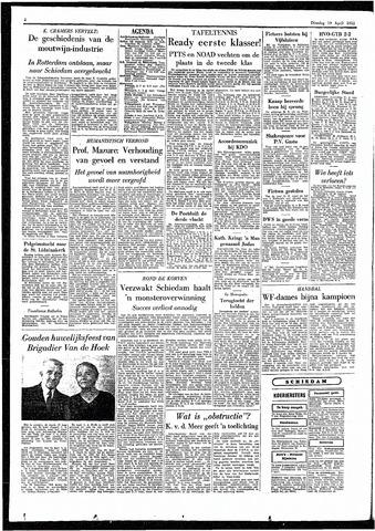 Rotterdamsch Parool / De Schiedammer 1955-04-19