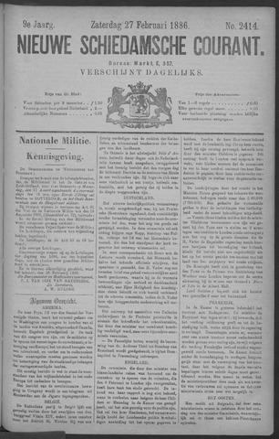 Nieuwe Schiedamsche Courant 1886-02-27