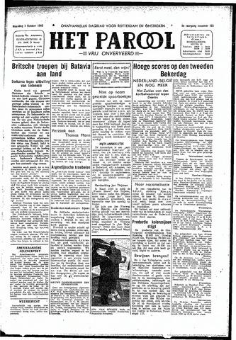 Rotterdamsch Parool / De Schiedammer 1945-10-01