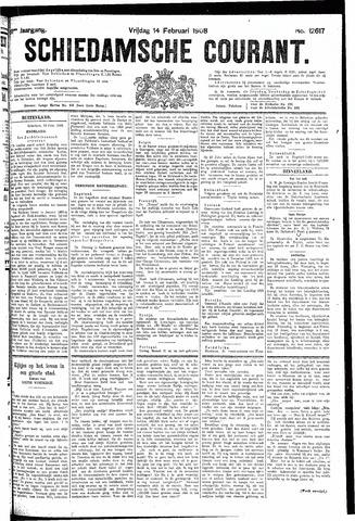 Schiedamsche Courant 1908-02-14