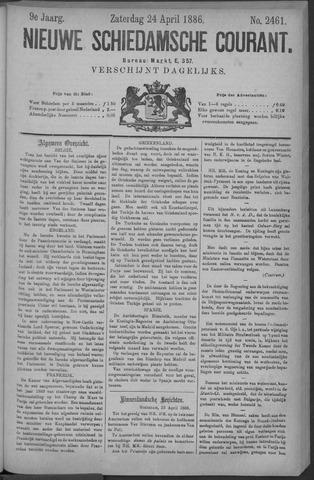 Nieuwe Schiedamsche Courant 1886-04-24