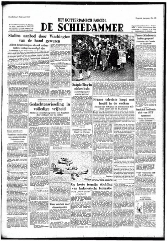 Rotterdamsch Parool / De Schiedammer 1949-02-03