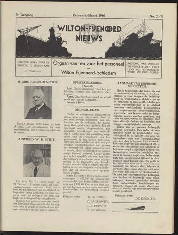 Wilton Fijenoord Nieuws 1940