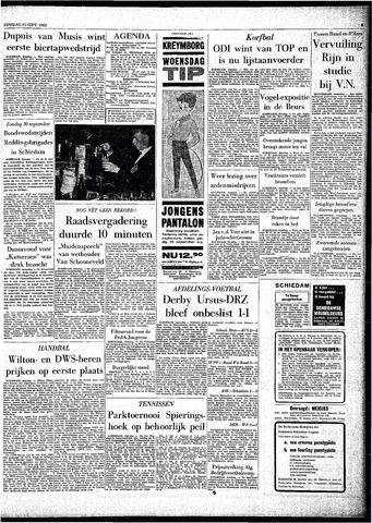 Rotterdamsch Parool / De Schiedammer 1962-09-25