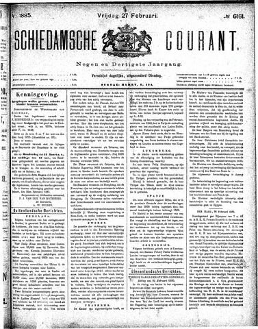 Schiedamsche Courant 1885-02-27