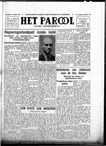 Rotterdamsch Parool / De Schiedammer 1945-10-17