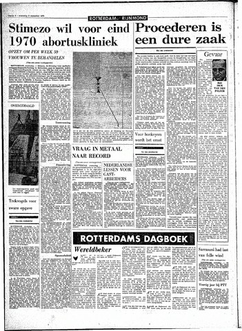 Rotterdamsch Parool / De Schiedammer 1970-09-09