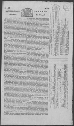 Rotterdamse Courant 1835-04-30