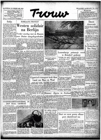 Trouw / De Rotterdammer 1954-02-20