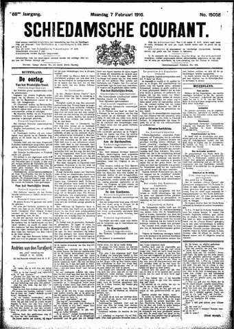 Schiedamsche Courant 1916-02-07