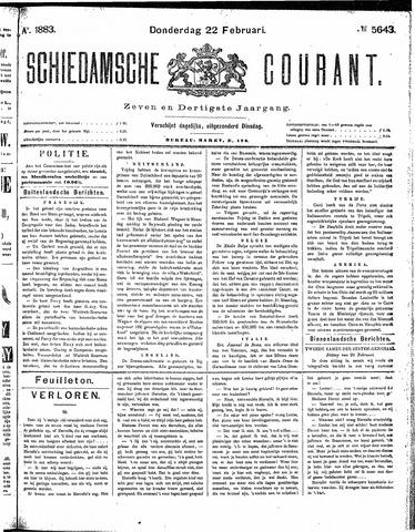 Schiedamsche Courant 1883-02-22