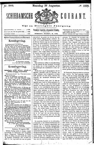 Schiedamsche Courant 1881-08-29