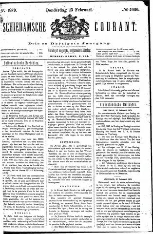 Schiedamsche Courant 1879-02-13