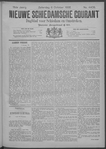 Nieuwe Schiedamsche Courant 1892-10-08