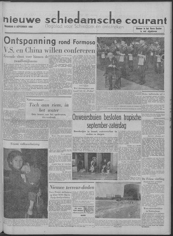 Nieuwe Schiedamsche Courant 1958-09-08