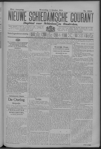 Nieuwe Schiedamsche Courant 1918-10-02