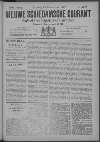 Nieuwe Schiedamsche Courant 1892-12-25
