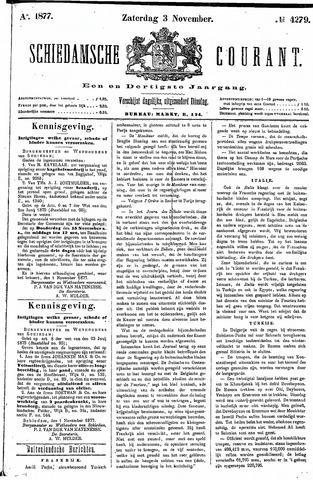 Schiedamsche Courant 1877-11-03