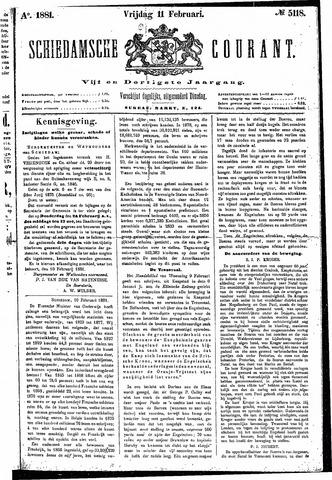Schiedamsche Courant 1881-02-11