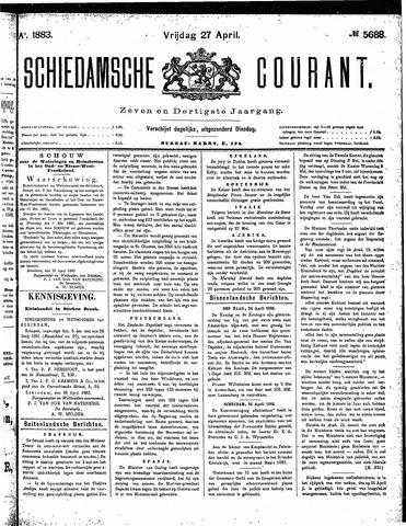 Schiedamsche Courant 1883-04-27