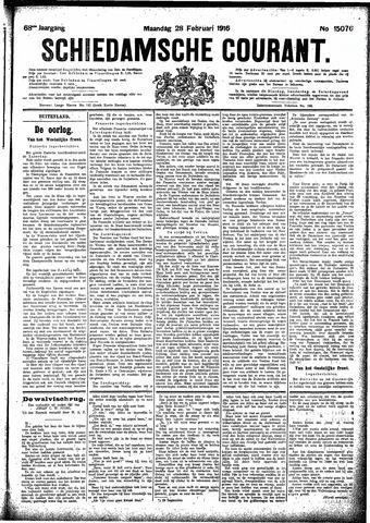 Schiedamsche Courant 1916-02-28