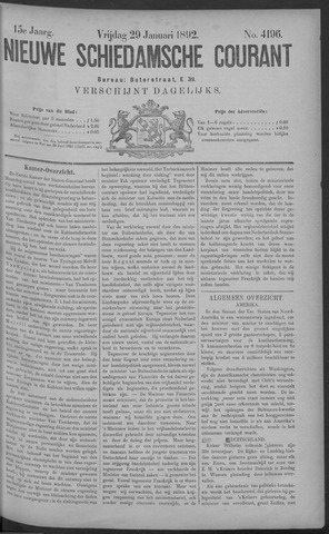 Nieuwe Schiedamsche Courant 1892-01-29