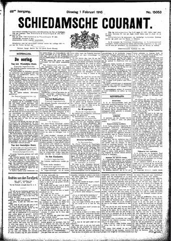 Schiedamsche Courant 1916-02-01