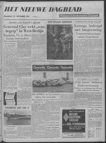 Nieuwe Schiedamsche Courant 1961-09-25
