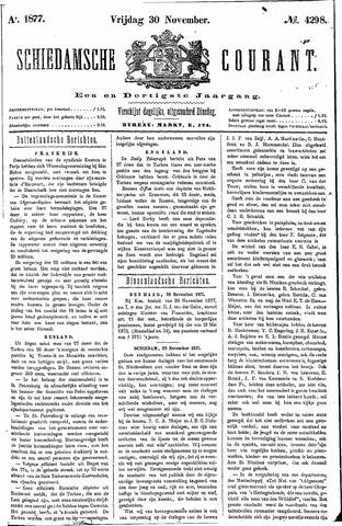 Schiedamsche Courant 1877-11-30