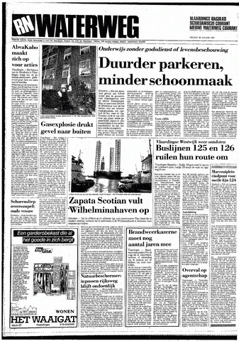 Rotterdamsch Nieuwsblad / Schiedamsche Courant / Rotterdams Dagblad / Waterweg / Algemeen Dagblad 1987-01-30